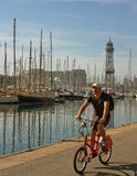 Port in Barcelona. Stock Images