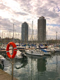 port Barcelone de yacht Photo stock
