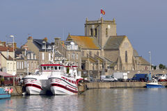 Port of Barfleur in France Royalty Free Stock Photo