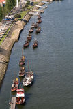Port Barges. Stock Images