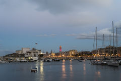 Port of Bari. At the sunset Royalty Free Stock Image