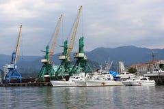 Port in Batumi Stock Image
