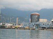 Port of Batumi, Adjara, Georgia. Cargo ships for commercial shipments Stock Photos