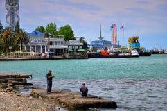 Port in Batumi, Georgia Stock Images