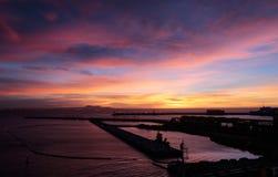 Palma de mallorca harbor at dawn wide Stock Photography