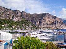Port in Beaulieu view from embankment E. Whitechurch stock photography