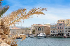 The port is beautiful white yachts and boats Stock Photography