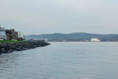 The Port of Belfast seen from Holywood to the east of the city royalty free stock images