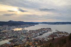 Port of Bergen, Norway Royalty Free Stock Images