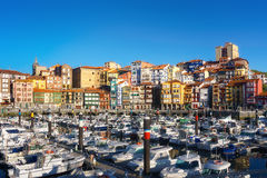 Port of Bermeo in Basque Country Stock Image