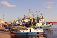 Port berth in Constanta Royalty Free Stock Images