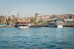 The port of Besiktas in Istanbul, Turkey Stock Photo
