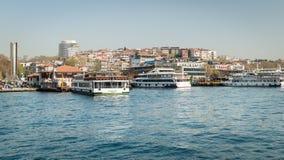 The port of Besiktas in Istanbul, Turkey Royalty Free Stock Image
