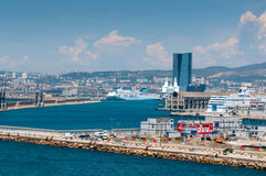 Port with big ferries Stock Photography