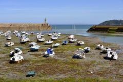 Port of Binic in France Stock Image