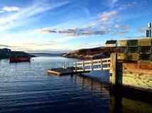 Port bleu Photos libres de droits