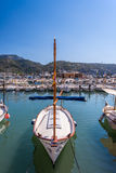 Port with boats in Balearic island Royalty Free Stock Photos