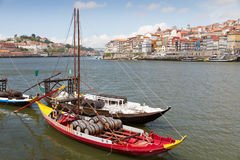 Port boats on Duora Porto, Portugal Royalty Free Stock Image