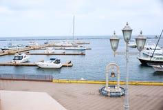Port with boats  a marina Royalty Free Stock Photos