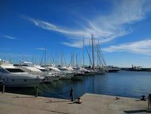 port & boats stock photography