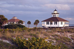 Port Boca Grande (Gasparilla Island) Lighthouse. Seen at sunset Royalty Free Stock Image