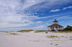 The Port Boca Grande Lighthouse. Port Boca Grande Lighthouse on Gasparilla Island, Florida viewed from the beach Stock Images
