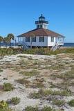 Port Boca Grande Lighthouse på den Gasparilla ön, vertic Florida Royaltyfria Bilder