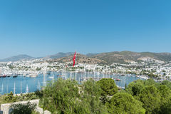 Port in Bodrum Turkey, on the Aegean sea. Royalty Free Stock Photo