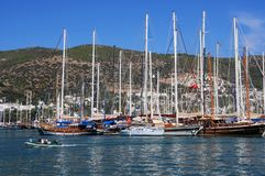 In the Port of Bodrum stock photo