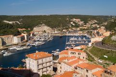 Port of Bonifacio. With the boats, Corsica Stock Photography