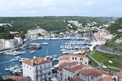 Port of Bonifacio in Corsica. Boats in the port of Bonifacio in Corsica Royalty Free Stock Image