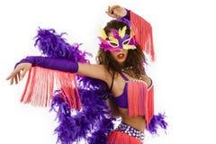 Port brésilien de Samba de danseur Photographie stock libre de droits