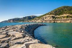 Port Breakwaves Photo stock