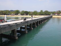 Port bridge to PaYam island , Thailand. Port bridge to PaYam island , Ranong,Thailand Stock Photo