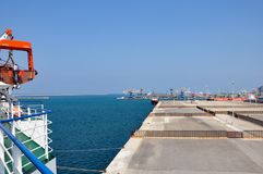 Port of Brindisi in southern Italy. Commercial dock of the Port of Brindisi. Puglia region, southern Italy. The port of Brindisi has always been considered as stock images