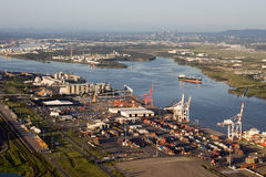 Port of Brisbane Aerial View Stock Images