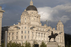 Port Building, Pier Head, Liverpool, Royalty Free Stock Photos
