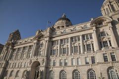 Port Building; Pier Head; Liverpool; England; UK Royalty Free Stock Photo