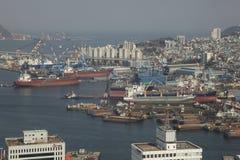 Port, Busan, S korea Photos libres de droits