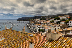 The port of Cadaques. Port of Cadaques in Spain stock photo