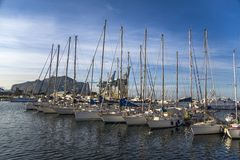 Port Cala in Palermo, Italy Stock Images