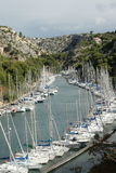 Port and calanque Stock Images