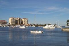 Port calme Photographie stock