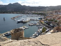 Port and harbour of Calvi. The historic port of Calvi on the island of Corsica, France Royalty Free Stock Photography