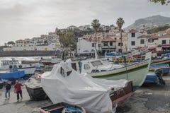 Port in Camara de Lobos Stock Photos