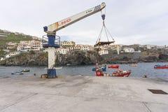 Port in Camara de Lobos Royalty Free Stock Images