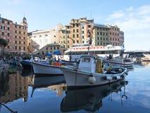 The port of Camogli Stock Image