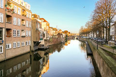 Port and canal embankment Gorinchem Royalty Free Stock Photo