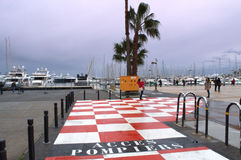 Port of Cannes entrance,France Stock Image