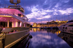 Port of Cannes, French Riviera, France. Cannes is a city located on the French riviera. It is a commune of France located in the Alpes-Maritimes department, a Stock Photography